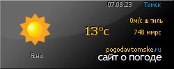 POGODAVTOMSKE.RU - сайт о погоде в г. Томске